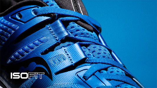 Saucony Ride ISO with ISO Fit technology