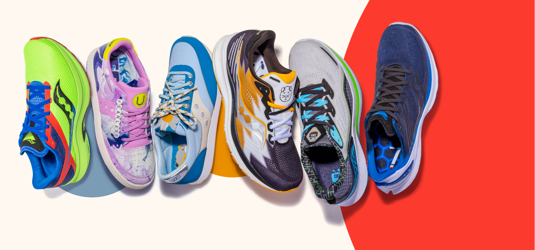 Saucony Collection of running shoes made with heart and soul.