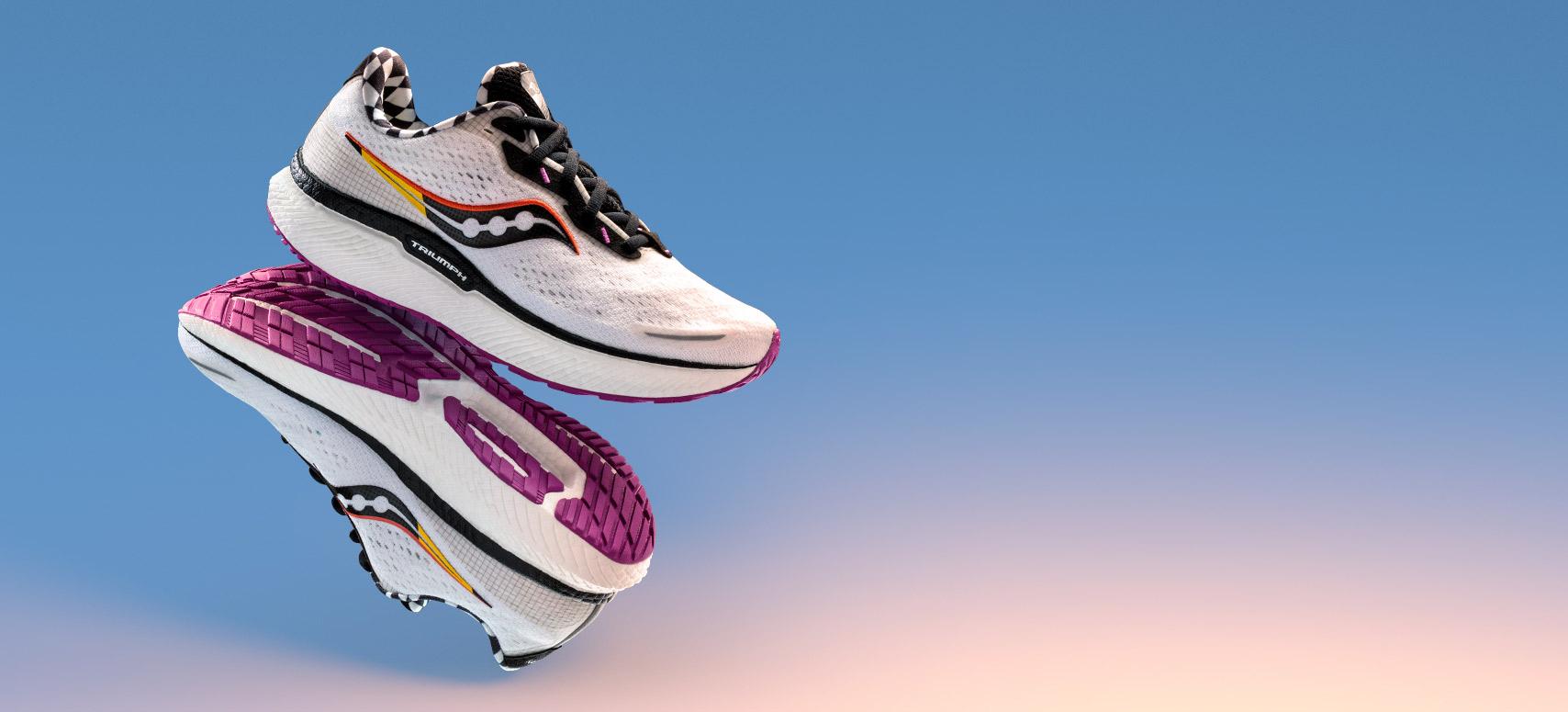 Triumph 19 running shoes.