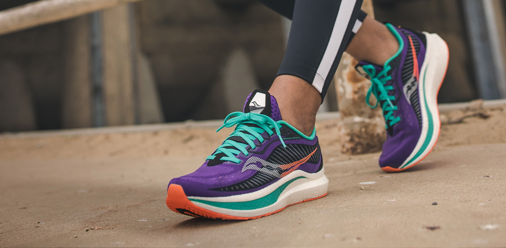 Endorphin running shoes.