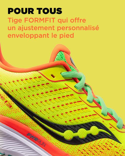 POUR TOUS, Tige FORMFIT qui offre un ajustement personnalisé enveloppant le pied