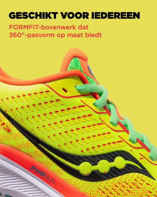FIT FOR ALL, FORMFIT upper that offers a custom 360 degree fit