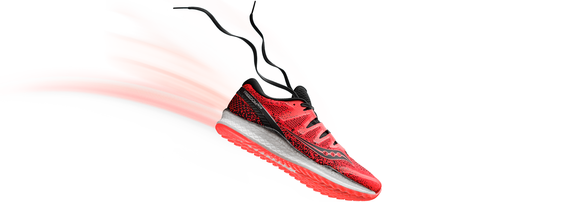 Freedom ISO 2 in Vizi Red by Saucony