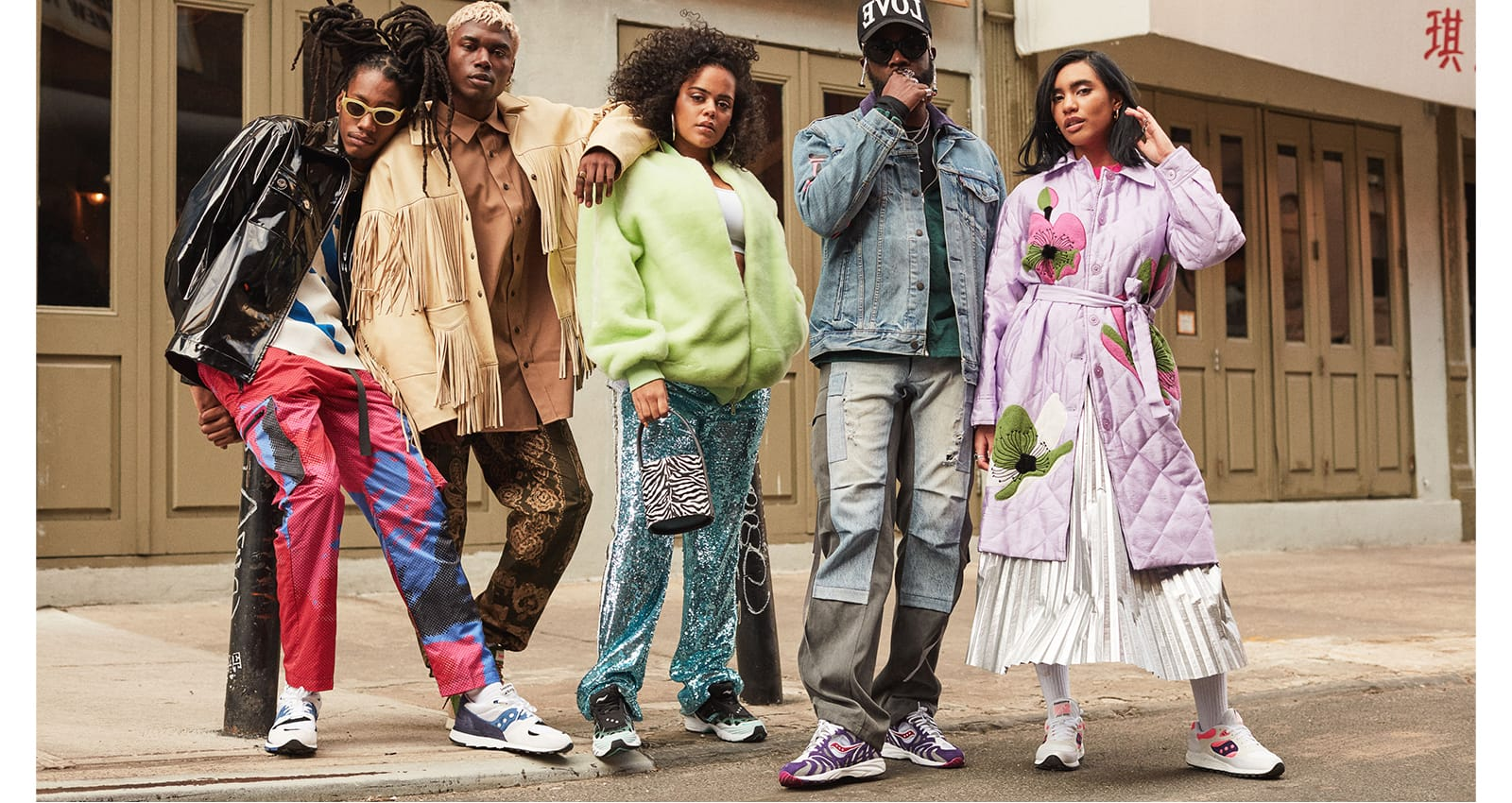 High Snobiety Featured NYC creatives lined up showing off their styles.