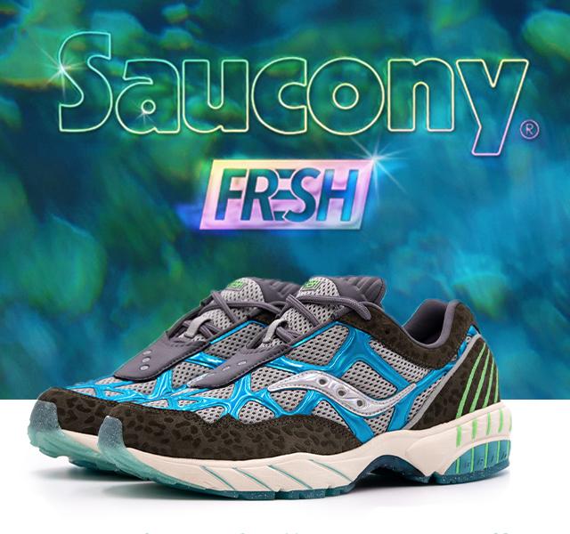 Saucony X Fresh Rags. The grid web Manatee.