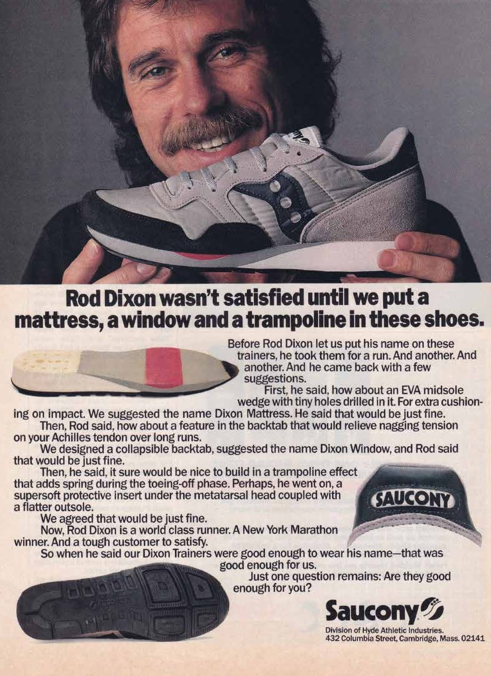 Rod Dixon wasn't satisfied until we put a mattress, a window and a trampoline in these shoes
