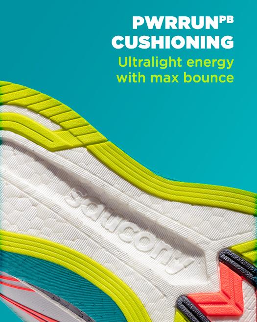 PWRRUN PB cushioning ultralight energy with max bounce