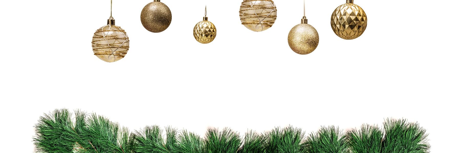 Holiday Greens and Christmas Tree Bulbs