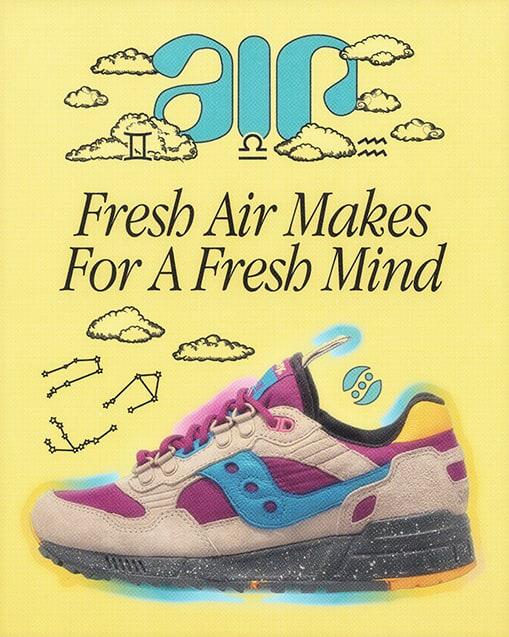AIR. Fresh air makes for a fresh mind.
