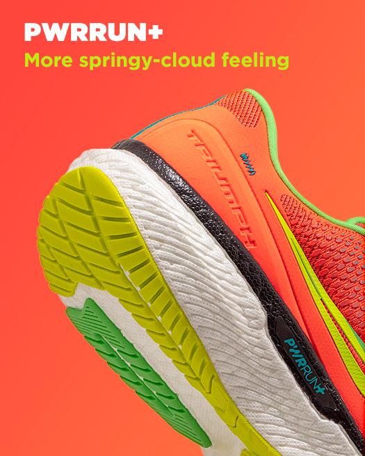PWRRUN+ Lighter springy-cloud feeling.