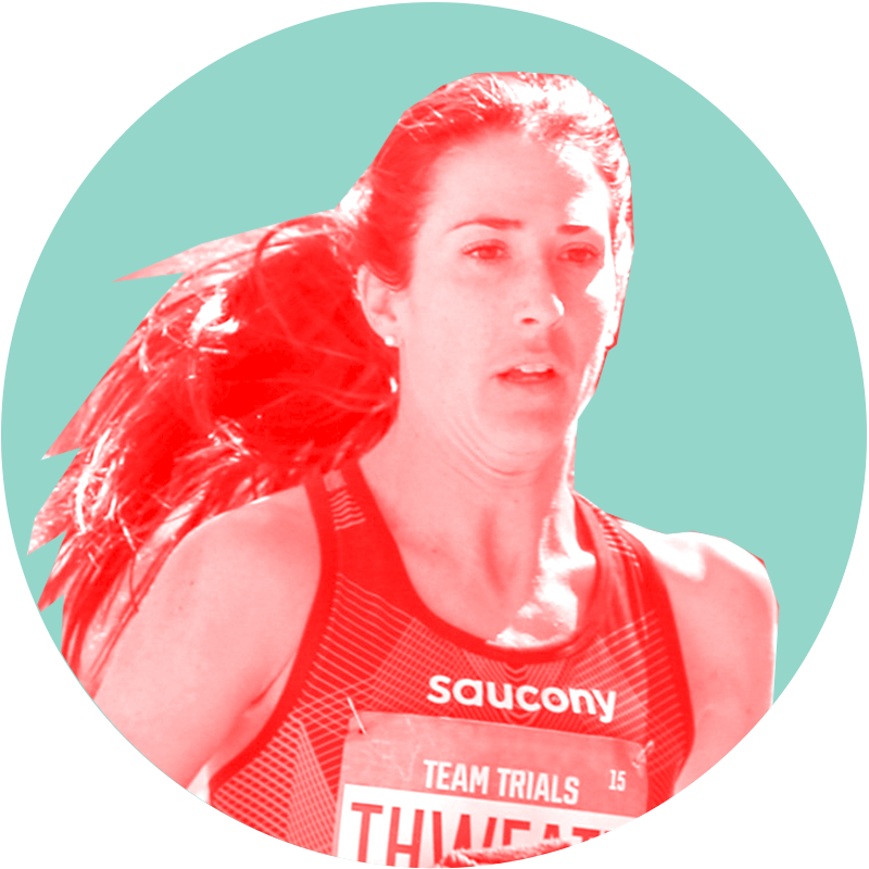 Laura Thwaett, Saucony Athlete.