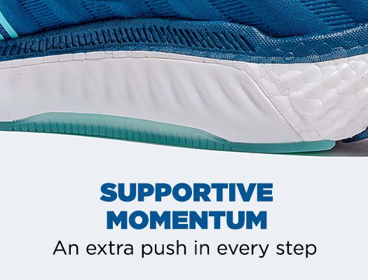 Supportive Momentum. An extra push in every step.