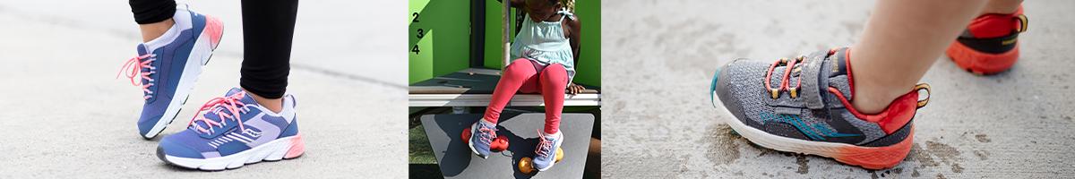 Kids wearing Wind Shield shoes