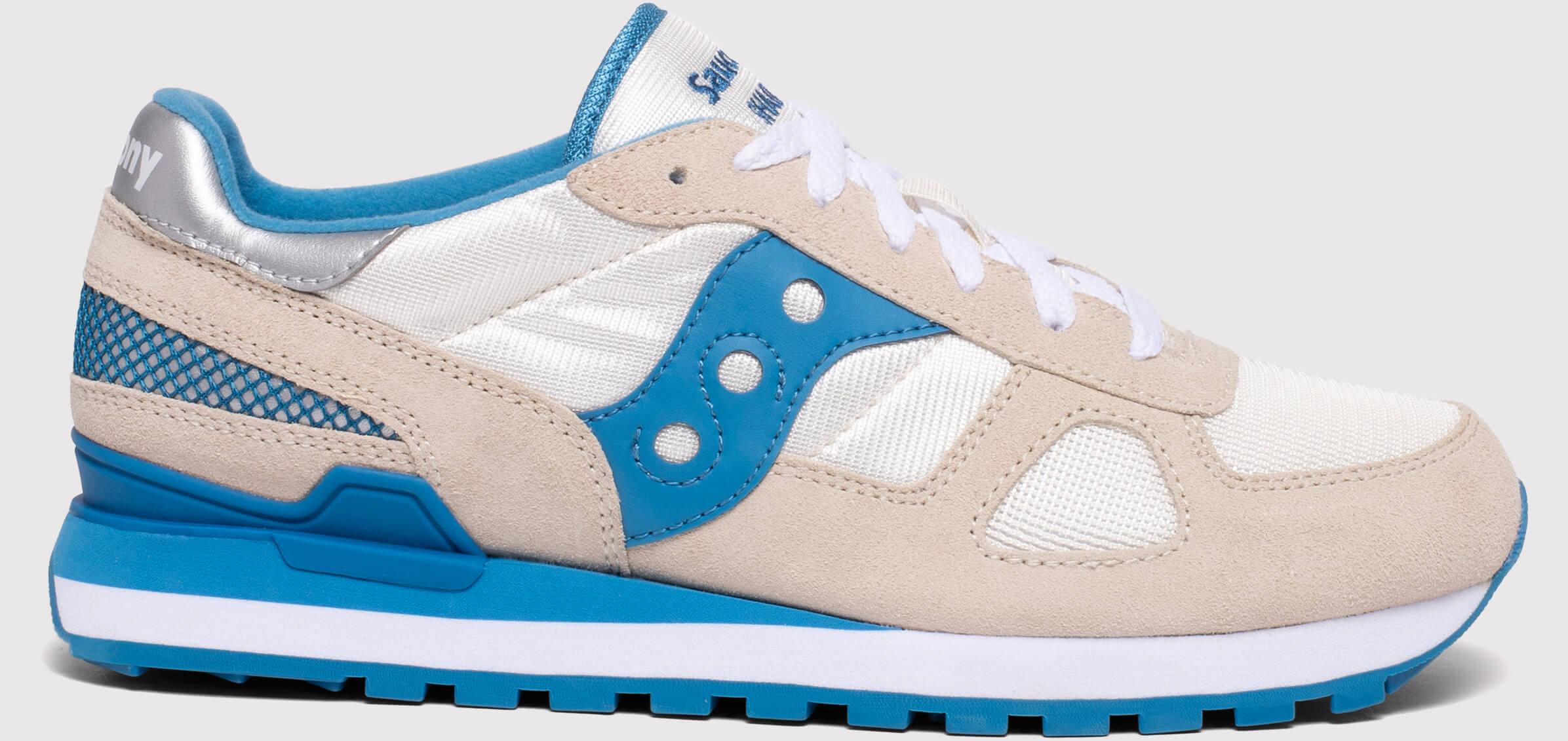 Saucony Homme Originals Jazz Lowpro Chaussures De Course crème//bleu