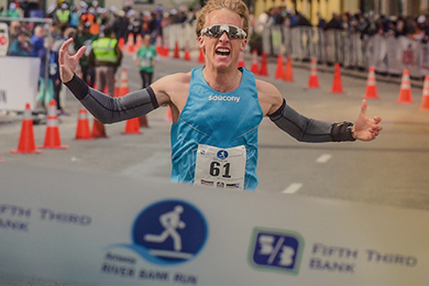 Saucony Athlete Parker Stinson crosses finish line
