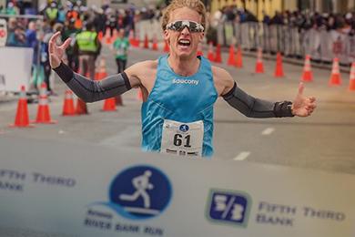 Saucony Athlete Parker Stinson crosses finish line