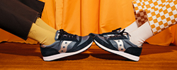 2 pair of Saucony Jazz shoes.