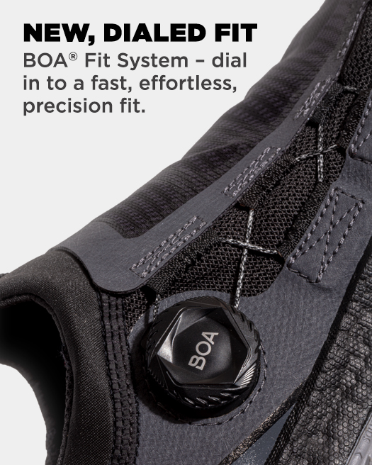 NEW, DIALED FIT, BOA lacing system for locked-in fit