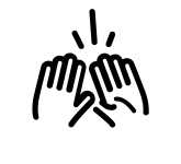 High-five icon