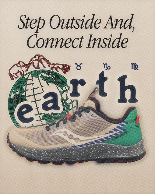 EARTH. Step outside and, connect inside.