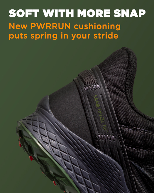 SOFT WITH MORE SNAP, New PWRRUN cushioning puts spring in your stride