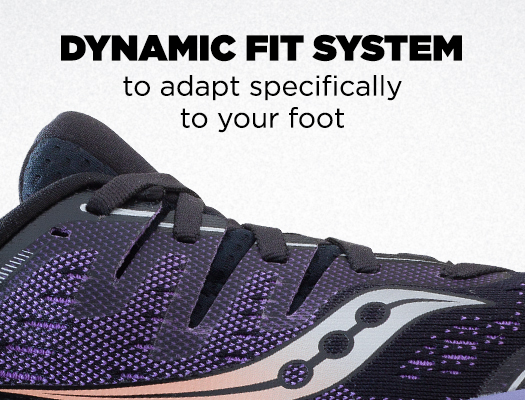 Dynamic Fit System to adapt specifically to your foot
