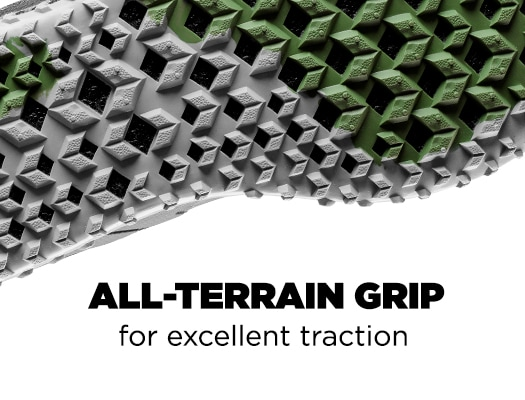 All-Terrain Grip for excellent traction