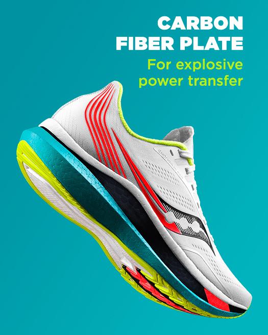 Carbon fiber plate for explosive power transfer