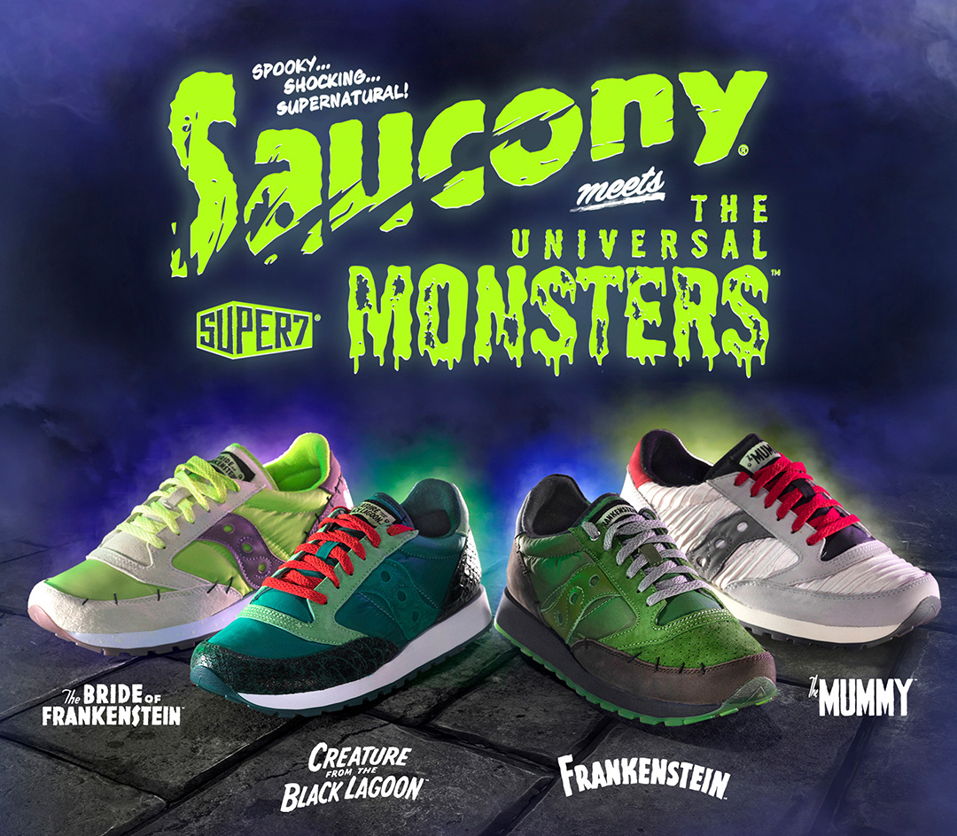 Saucony meets the Universal Monster style shoes.