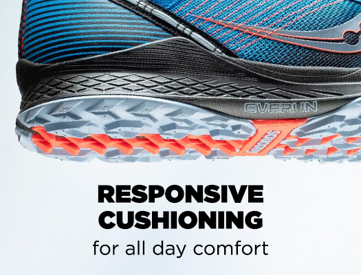 Responsive Cushioning for all day comfort