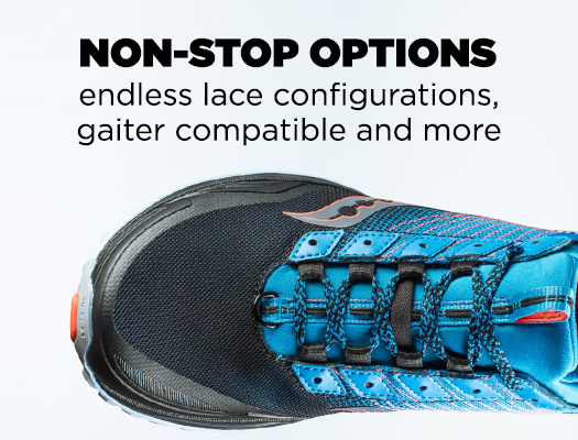 Non-Stop Options endless lace configurations, gaiter compatible and more