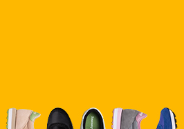 Saucony Originals shoes on a yellow colored background