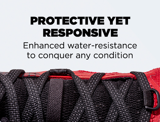 Protective Yet Responsive. Enhanced water-resistance to conquer any condition.