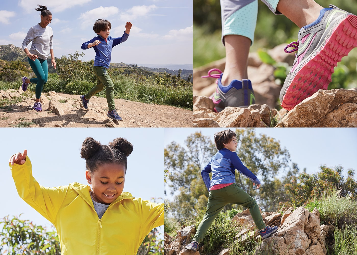 Gallery of kids wearing the Saucony Peregrine 10