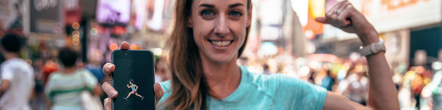 Runner Girl Emoji - Molly Huddle