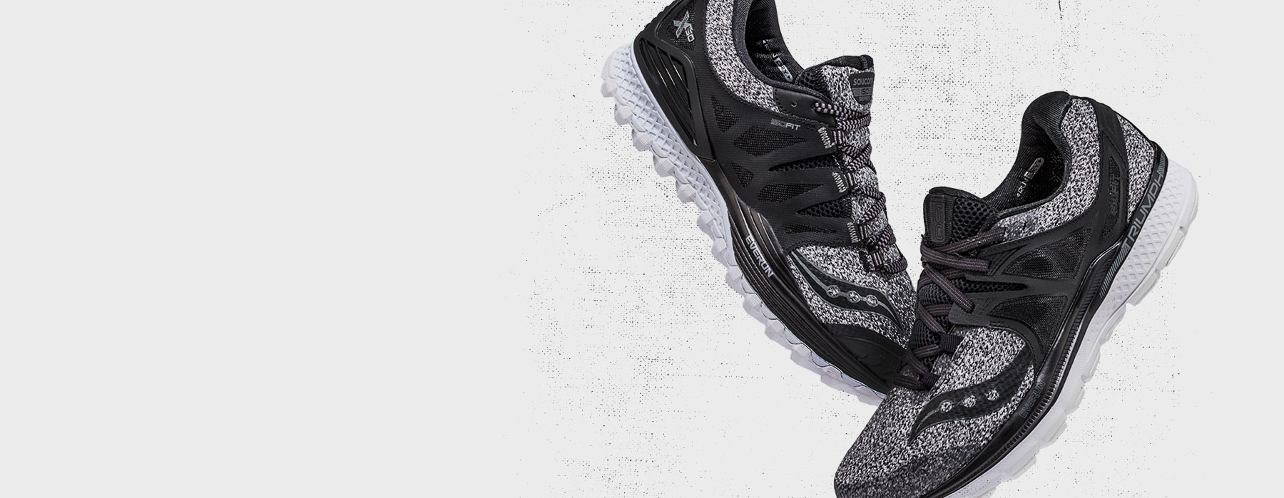 Saucony Triumph ISO3 sneakers in marled gray.
