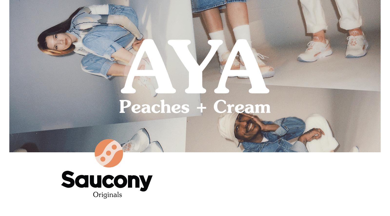 AYA Peaches + Cream Saucony Originals.