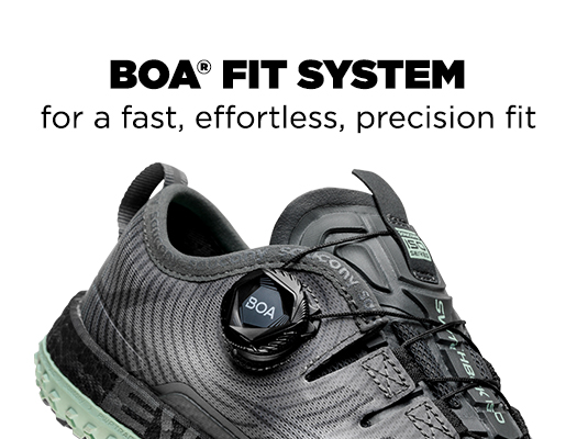 BOA Technology® for a dialed-in fit