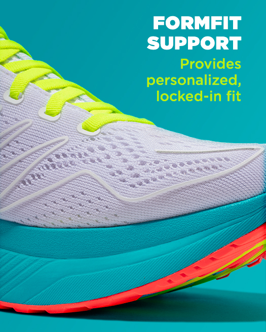 FORMFIT support provides personalized, locked-in fit