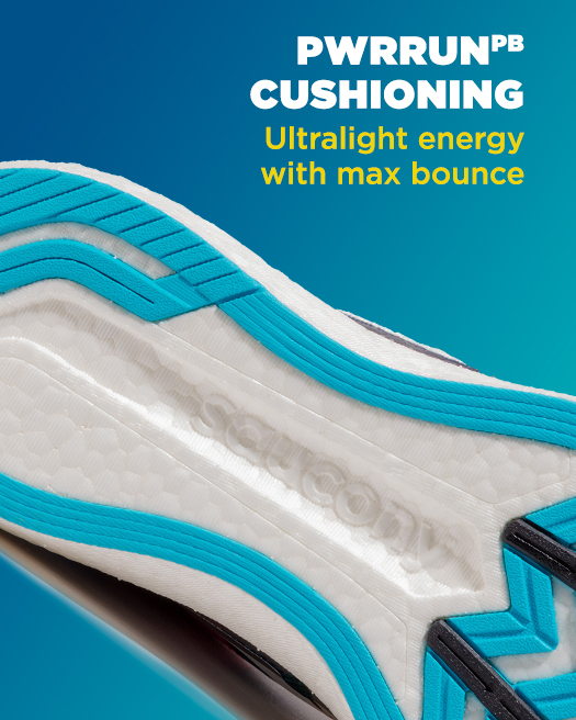 PWRRUN PB cushioning: ultralight energy with max bounce