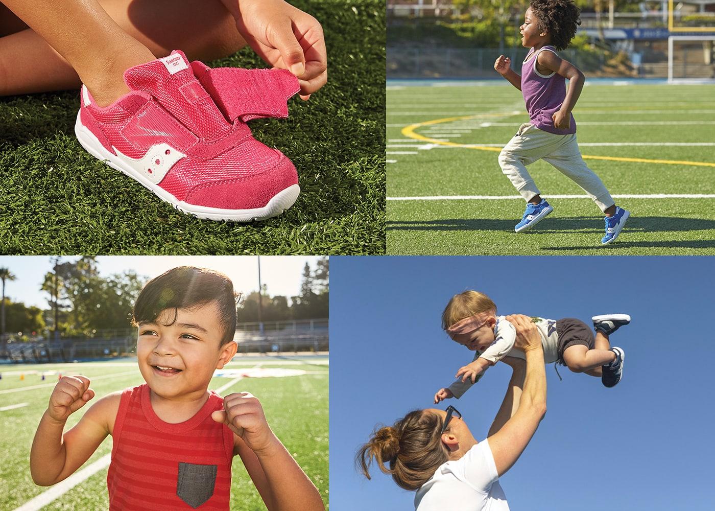 Gallery of kids wearing Saucony Jazz Riff Sneakers