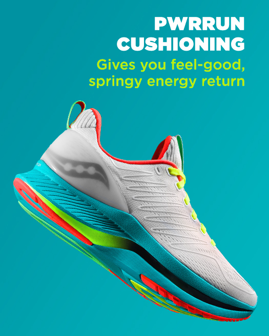 PWRRUN cushioning gives you feel-good, springy energy return