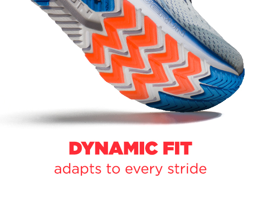 Dyanmic Fit adapts to every stride